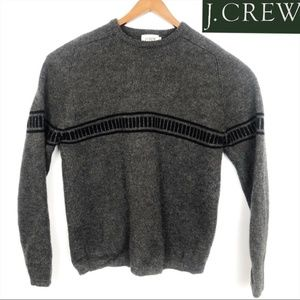 J. Crew Knit Gray Black VERY HEAVY Wool Sweater